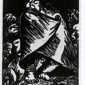Ernst Barlach: Die Schneckenhexe, 1923, aus Goethe. Walpurgisnacht, 1922–1923, insgesamt 20 Holzschnitte