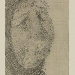 Ernst Barlach: Kopf einer Säuferin, 1906