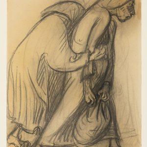 Ernst Barlach: wei flüchtende Frauen, 1922